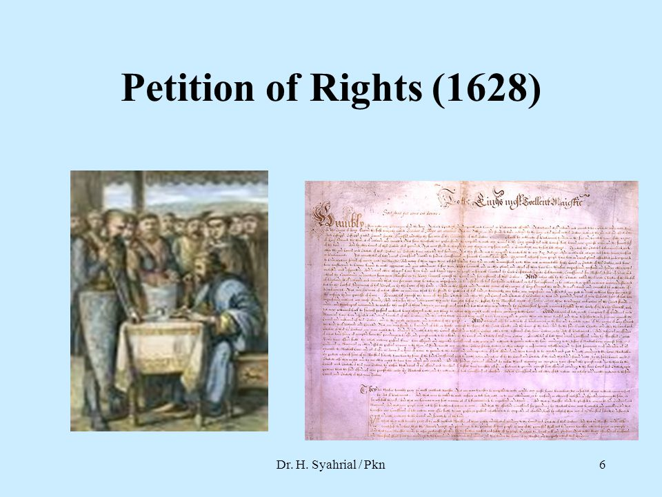 Petition of Rights (1628) Dr. H. Syahrial / Pkn