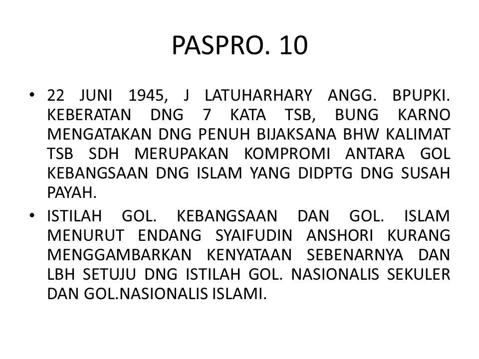 PASPRO. 10