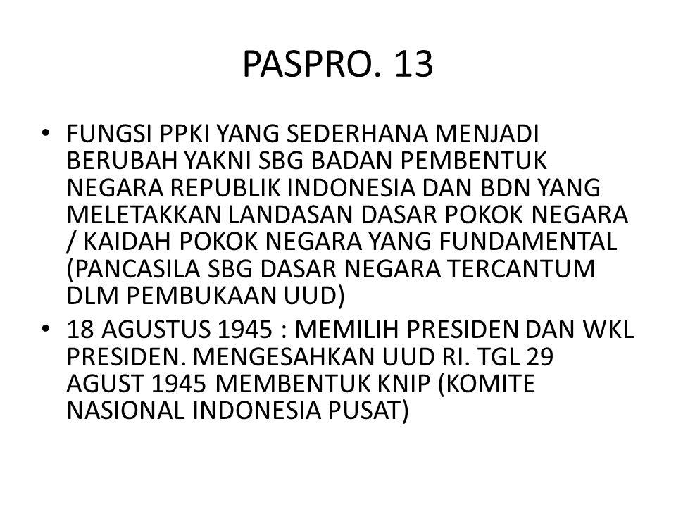 PASPRO. 13