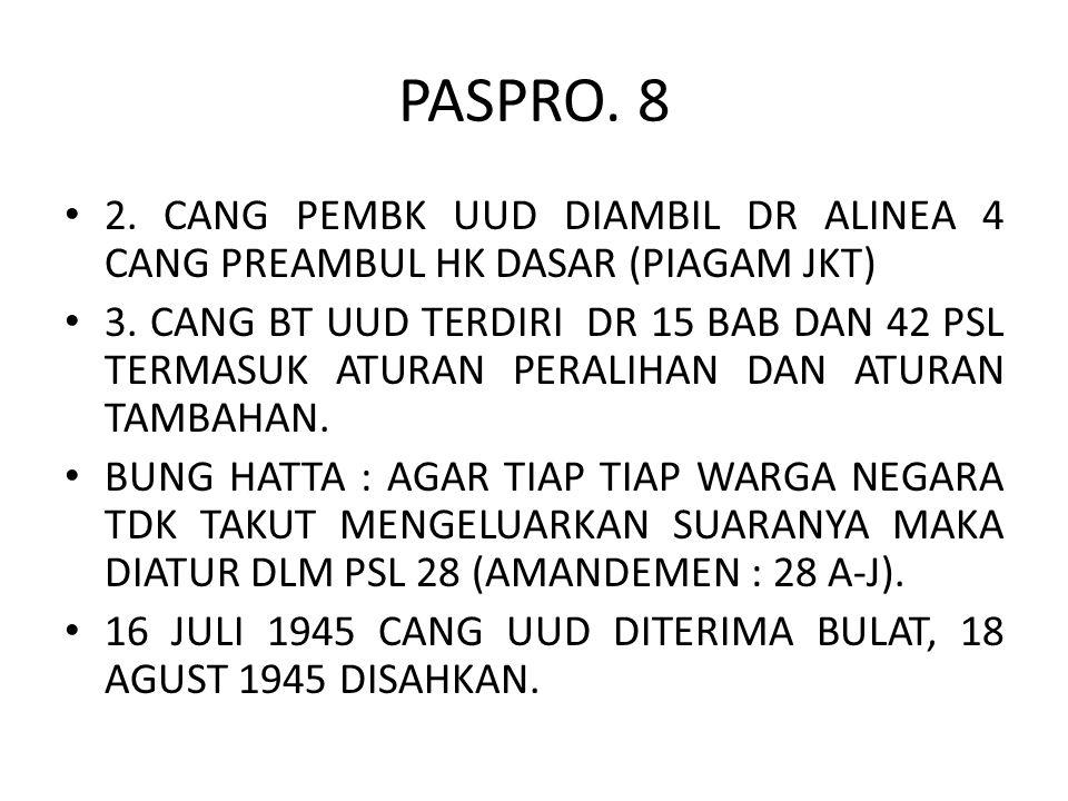 PASPRO. 8 2. CANG PEMBK UUD DIAMBIL DR ALINEA 4 CANG PREAMBUL HK DASAR (PIAGAM JKT)