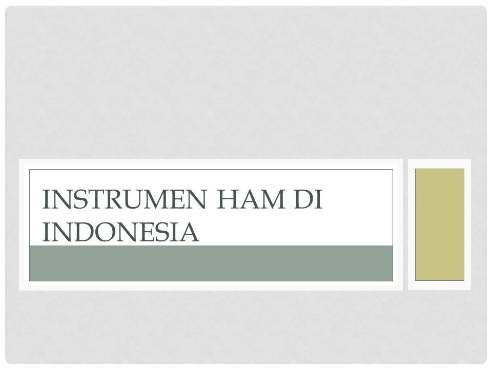 Instrumen HAM di Indonesia