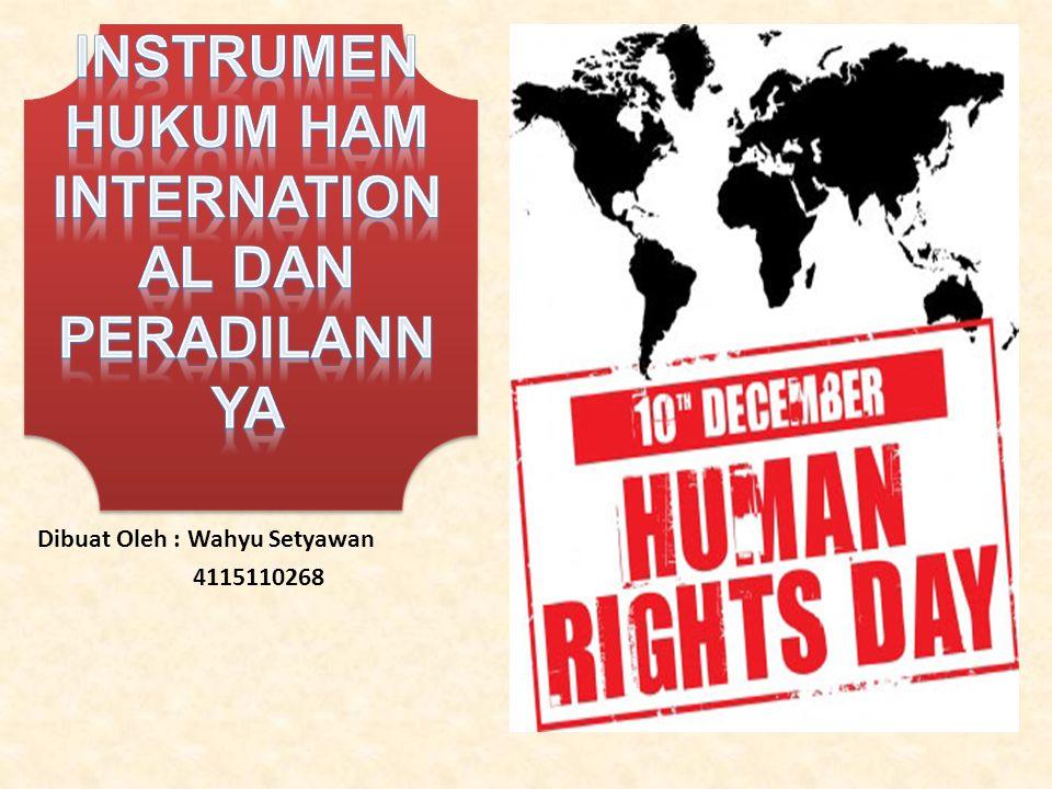 Instrumen Hukum HAM International dan Peradilannya
