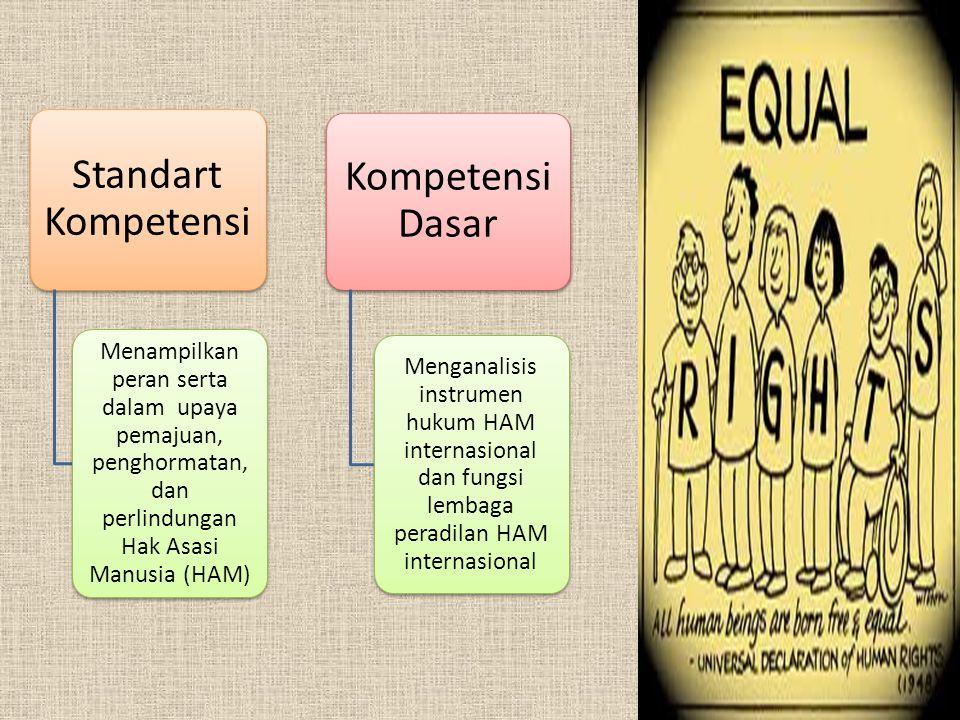Standart Kompetensi Kompetensi Dasar