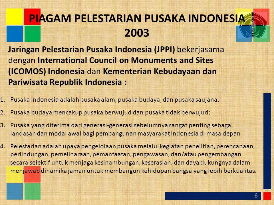 PIAGAM PELESTARIAN PUSAKA INDONESIA 2003
