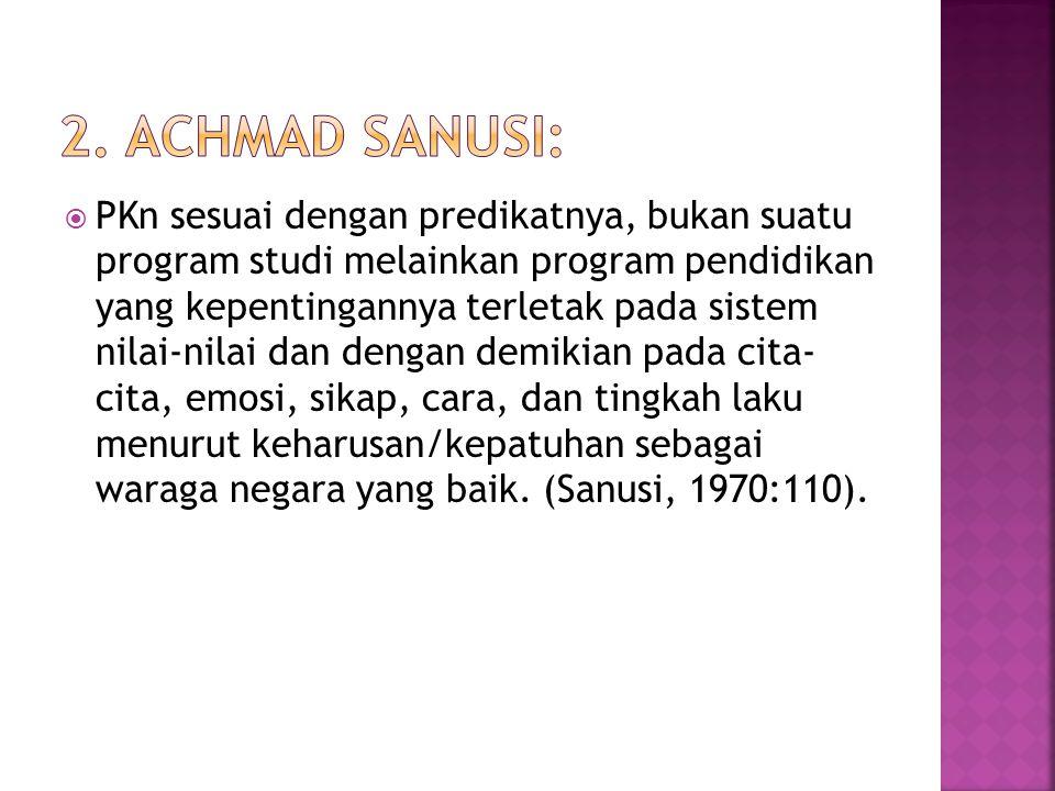 2. Achmad Sanusi: