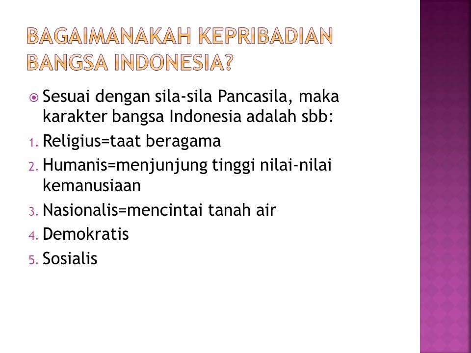 Bagaimanakah kepribadian bangsa Indonesia