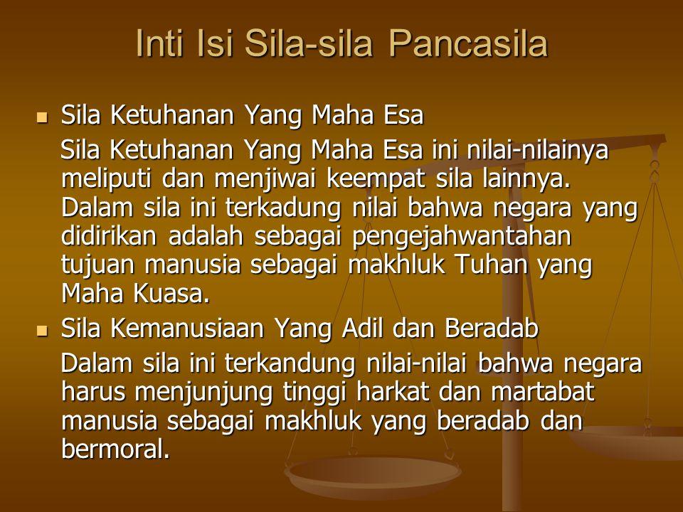 Inti Isi Sila-sila Pancasila