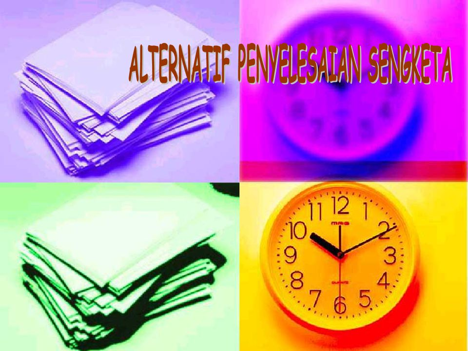 ALTERNATIF PENYELESAIAN SENGKETA