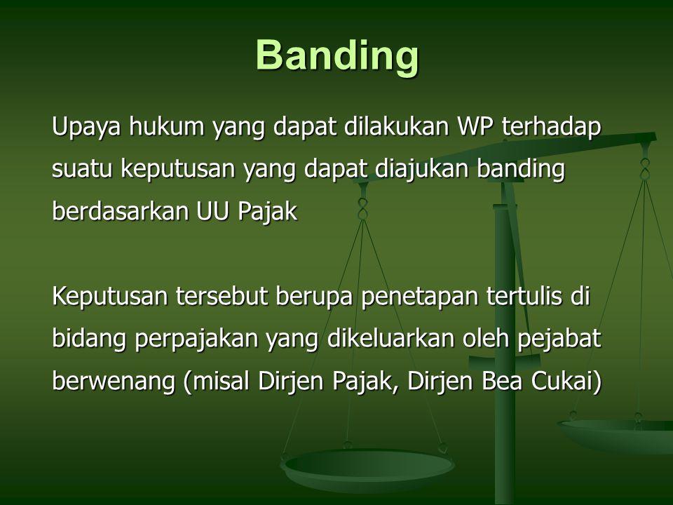 Banding Upaya hukum yang dapat dilakukan WP terhadap