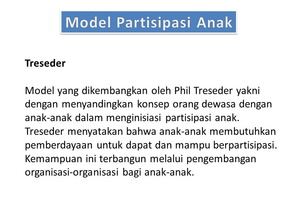Model Partisipasi Anak