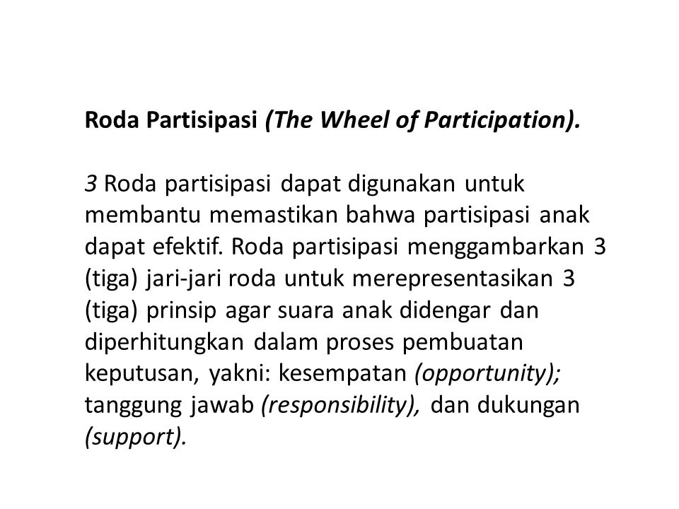 Roda Partisipasi (The Wheel of Participation).