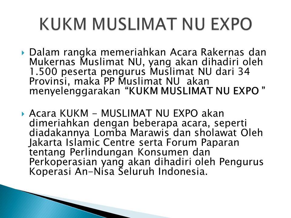 KUKM MUSLIMAT NU EXPO