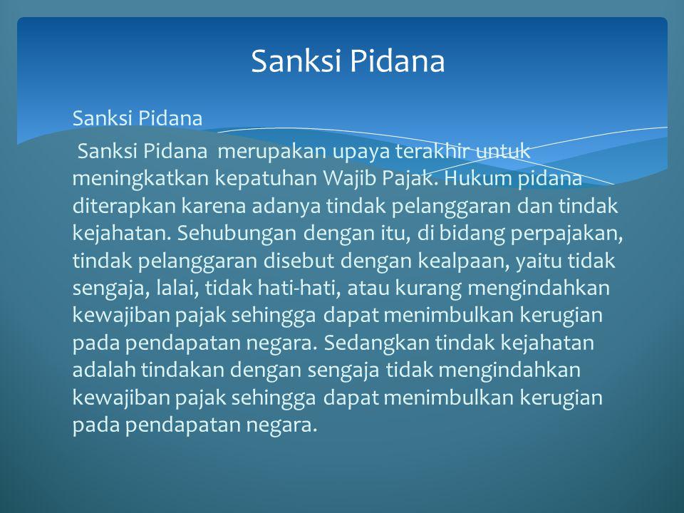 Sanksi Pidana