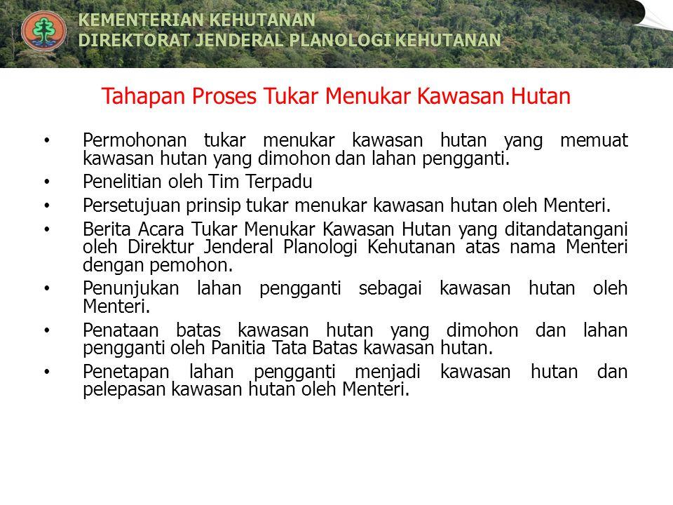 Tahapan Proses Tukar Menukar Kawasan Hutan
