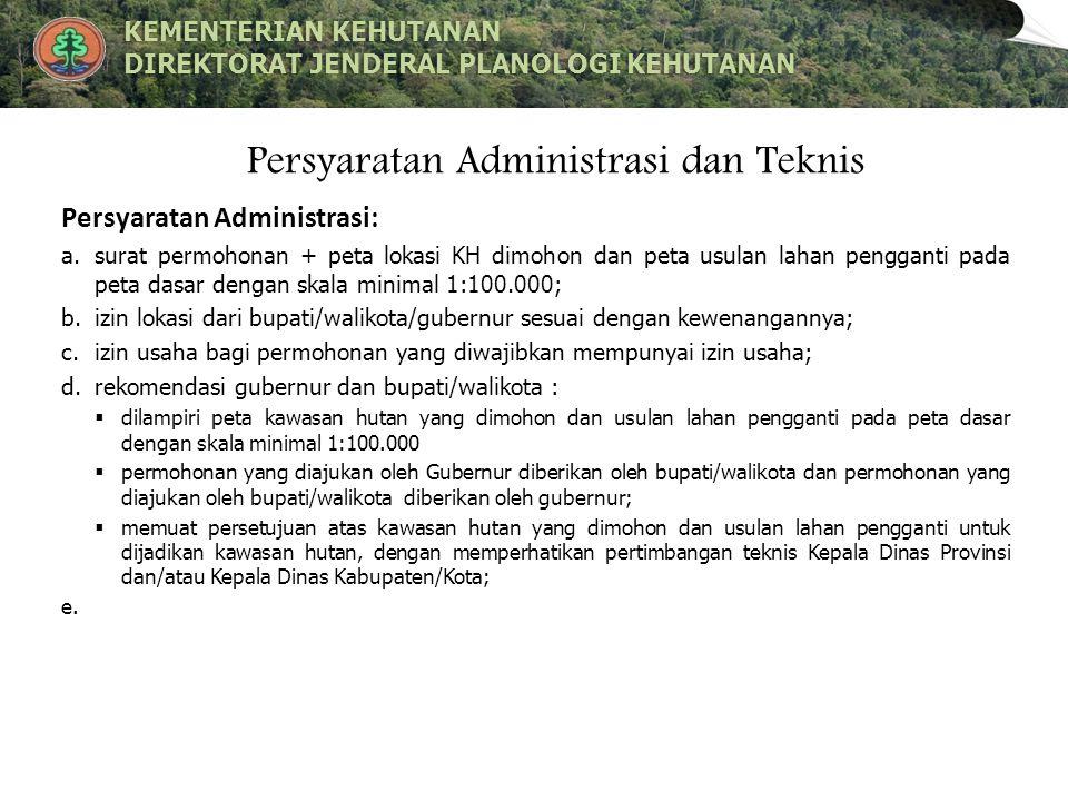 Persyaratan Administrasi dan Teknis