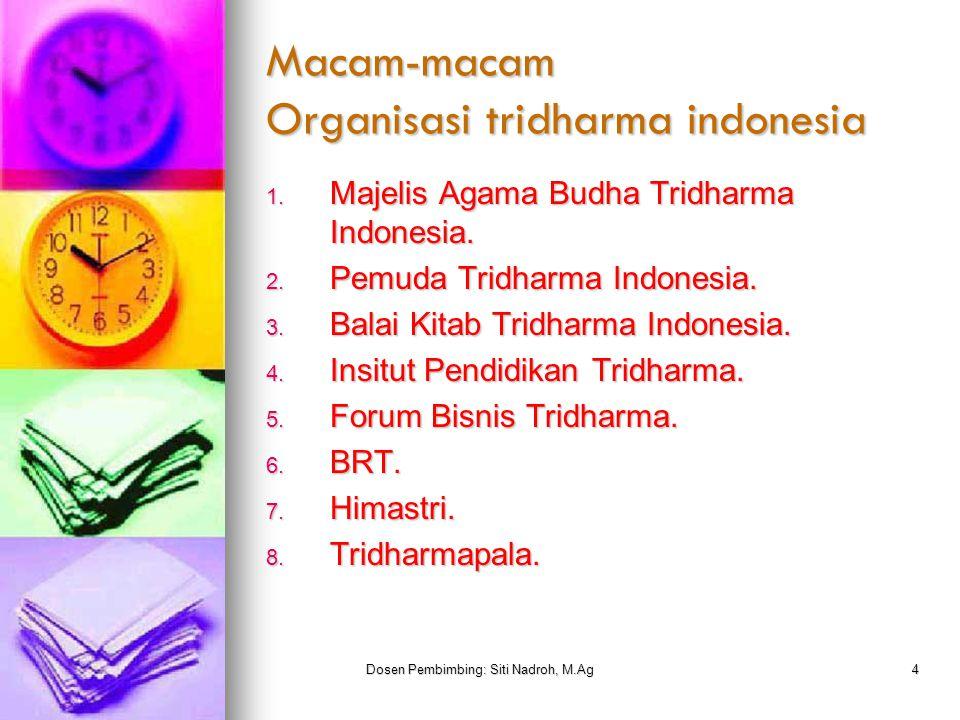 Macam-macam Organisasi tridharma indonesia