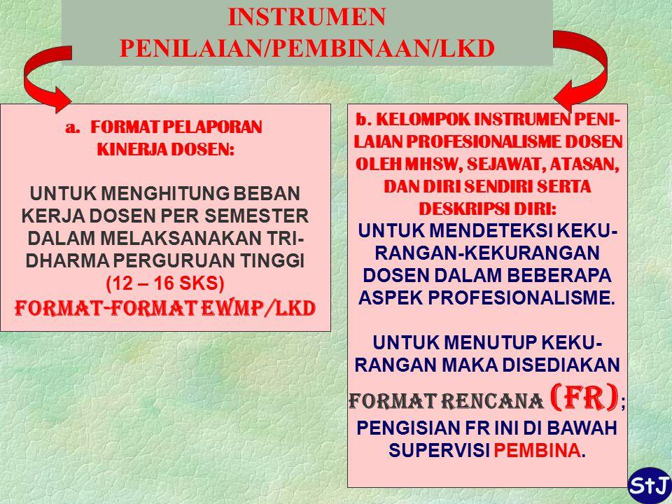 INSTRUMEN PENILAIAN/PEMBINAAN/LKD