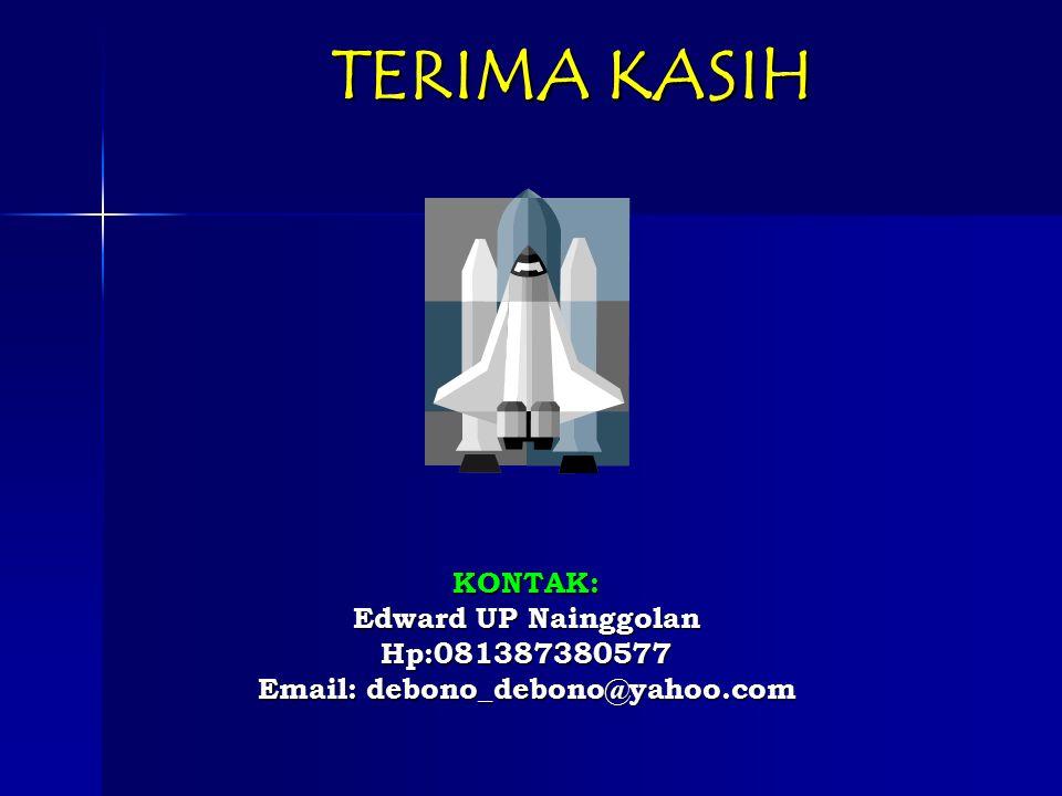 TERIMA KASIH KONTAK: Edward UP Nainggolan Hp:081387380577
