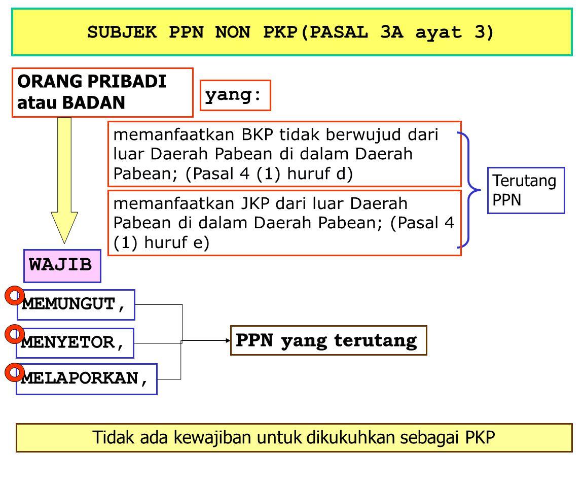 SUBJEK PPN NON PKP(PASAL 3A ayat 3)