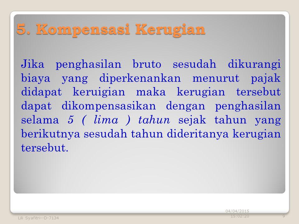 5. Kompensasi Kerugian