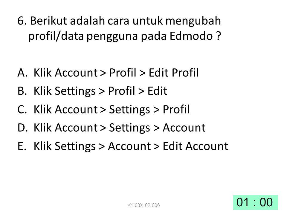 Klik Account > Profil > Edit Profil