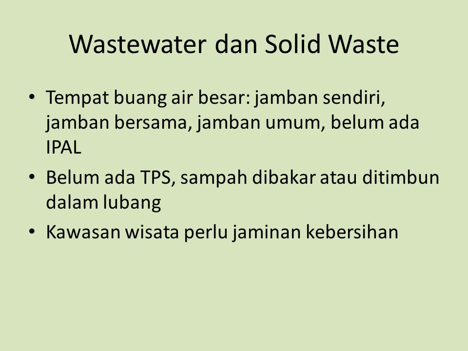 Wastewater dan Solid Waste
