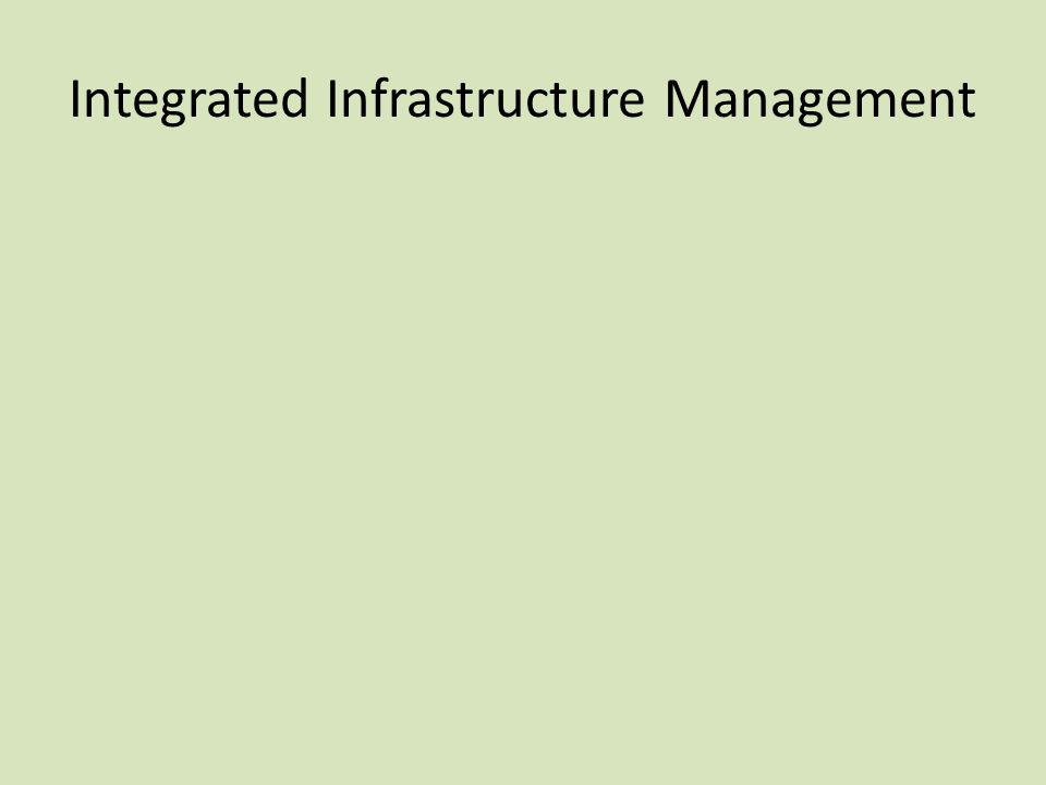 Integrated Infrastructure Management