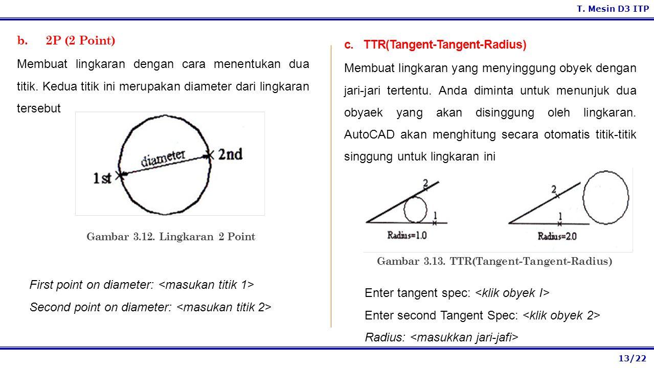 c. TTR(Tangent-Tangent-Radius)