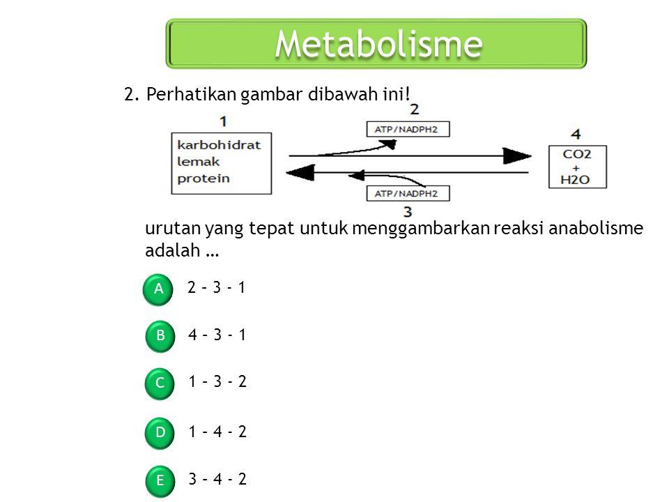 Metabolisme 2. Perhatikan gambar dibawah ini!