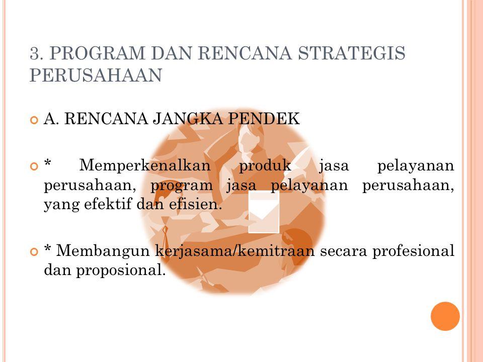 3. PROGRAM DAN RENCANA STRATEGIS PERUSAHAAN