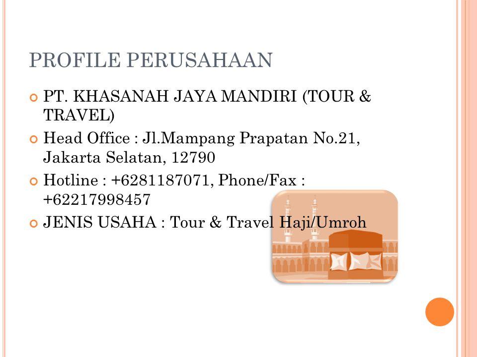 PROFILE PERUSAHAAN PT. KHASANAH JAYA MANDIRI (TOUR & TRAVEL)