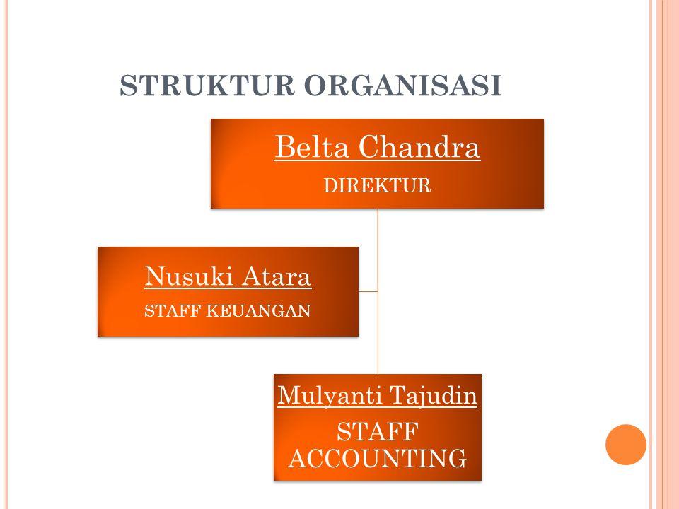 Belta Chandra STRUKTUR ORGANISASI Mulyanti Tajudin STAFF ACCOUNTING