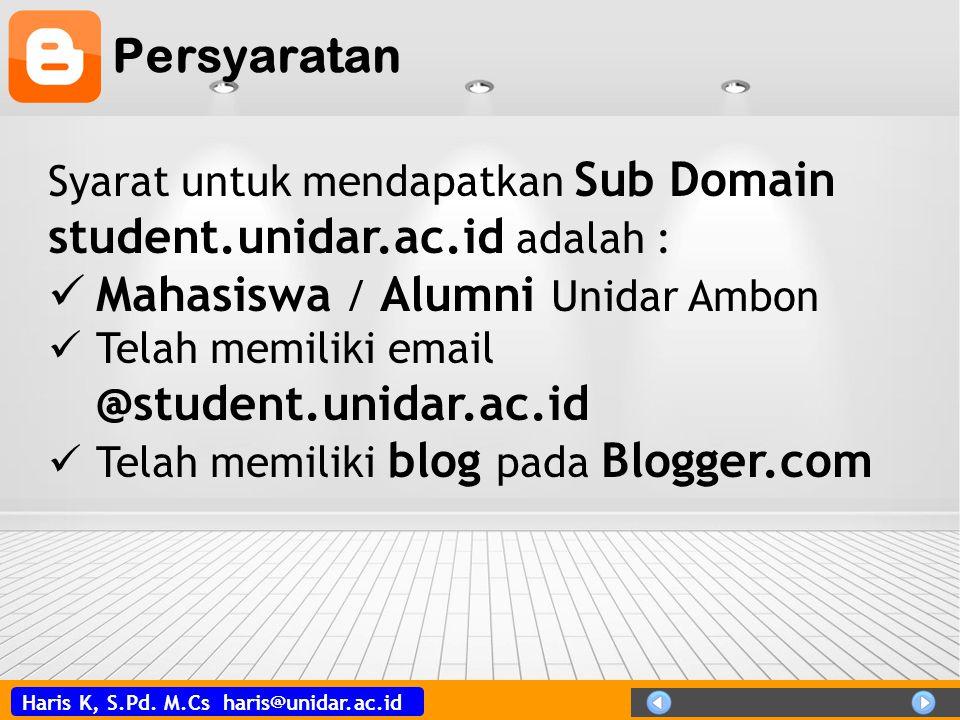 Mahasiswa / Alumni Unidar Ambon