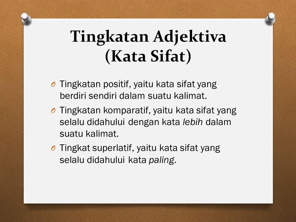 Tingkatan Adjektiva (Kata Sifat)