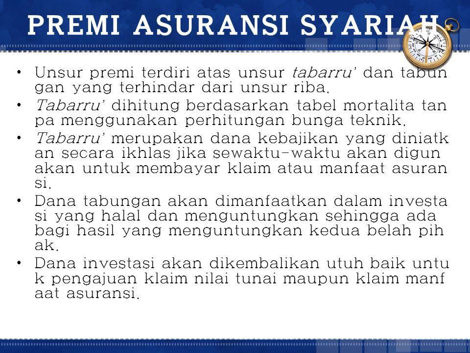 PREMI ASURANSI SYARIAH