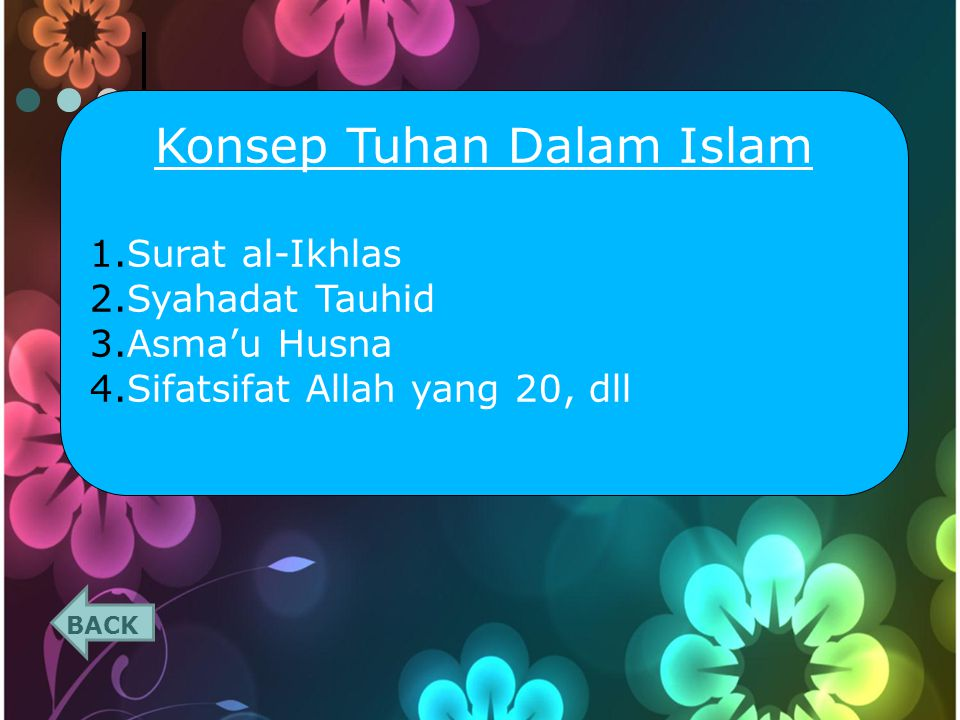 Konsep Tuhan Dalam Islam