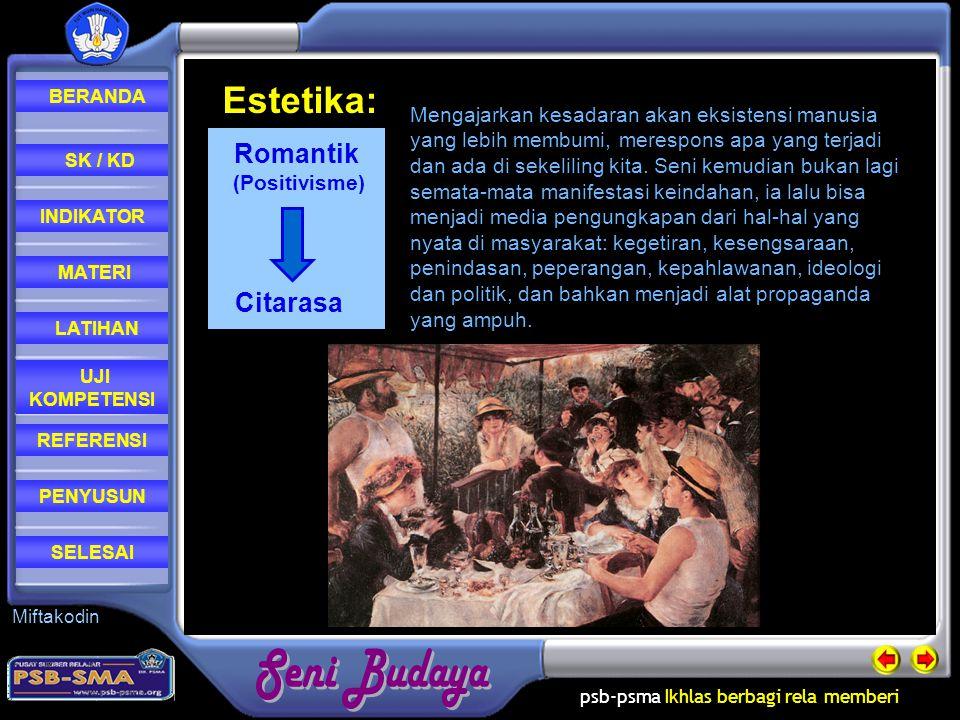 Estetika: Romantik Citarasa