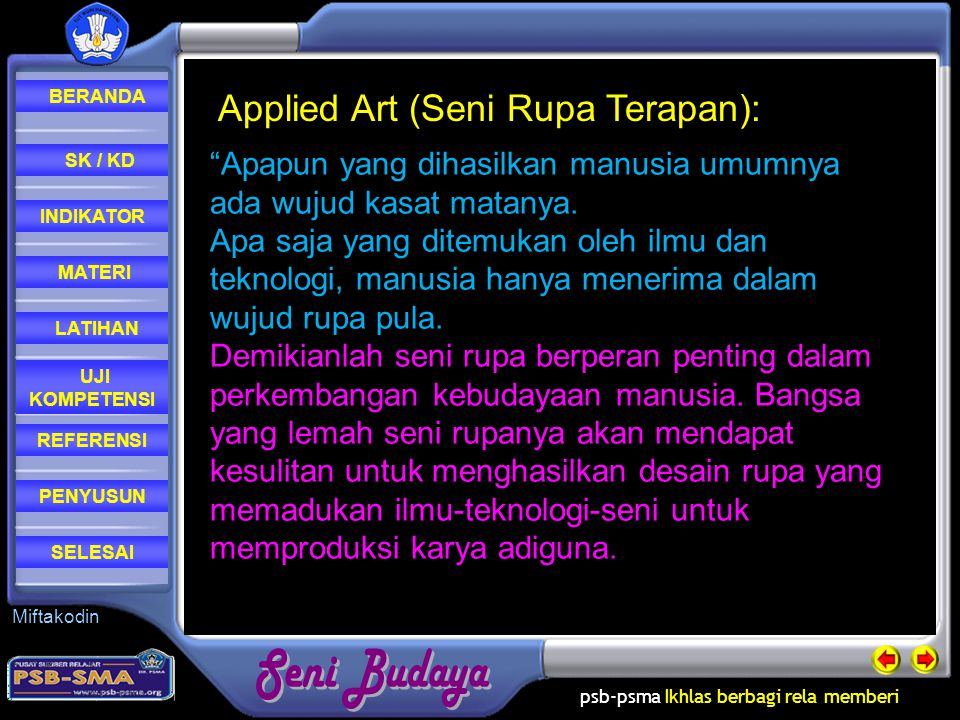Applied Art (Seni Rupa Terapan):