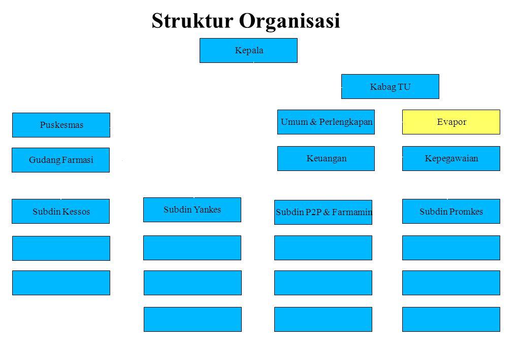 Struktur Organisasi Kepala Kabag TU Puskesmas Umum & Perlengkapan