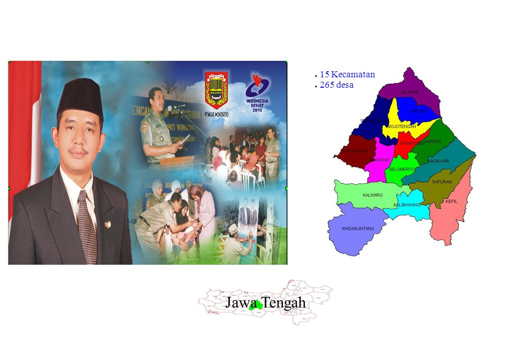 Kabupaten Wonosobo 15 Kecamatan 265 desa Jawa Tengah