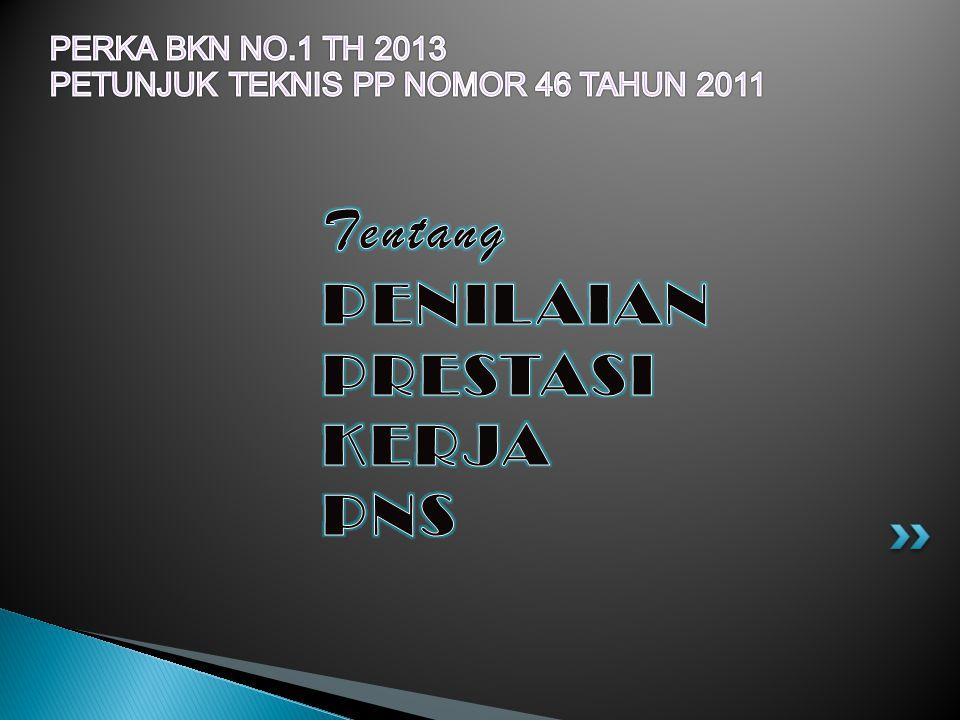 PERKA BKN NO.1 TH 2013 PETUNJUK TEKNIS PP NOMOR 46 TAHUN 2011