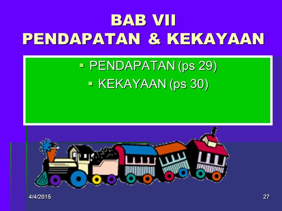 BAB VII PENDAPATAN & KEKAYAAN