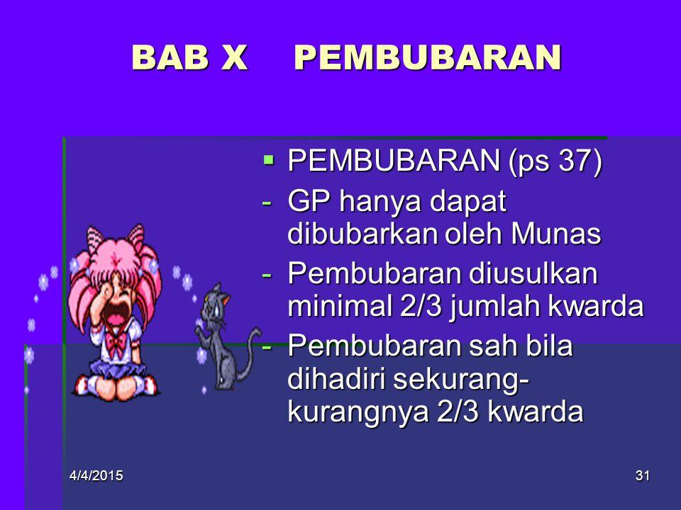 BAB X PEMBUBARAN PEMBUBARAN (ps 37)