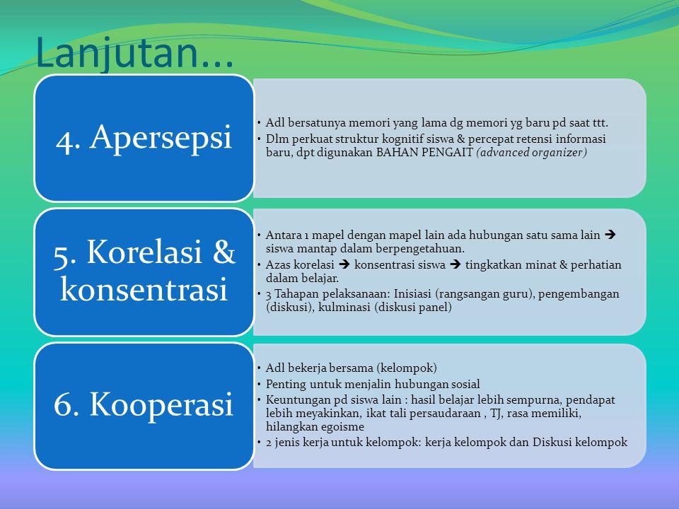 5. Korelasi & konsentrasi