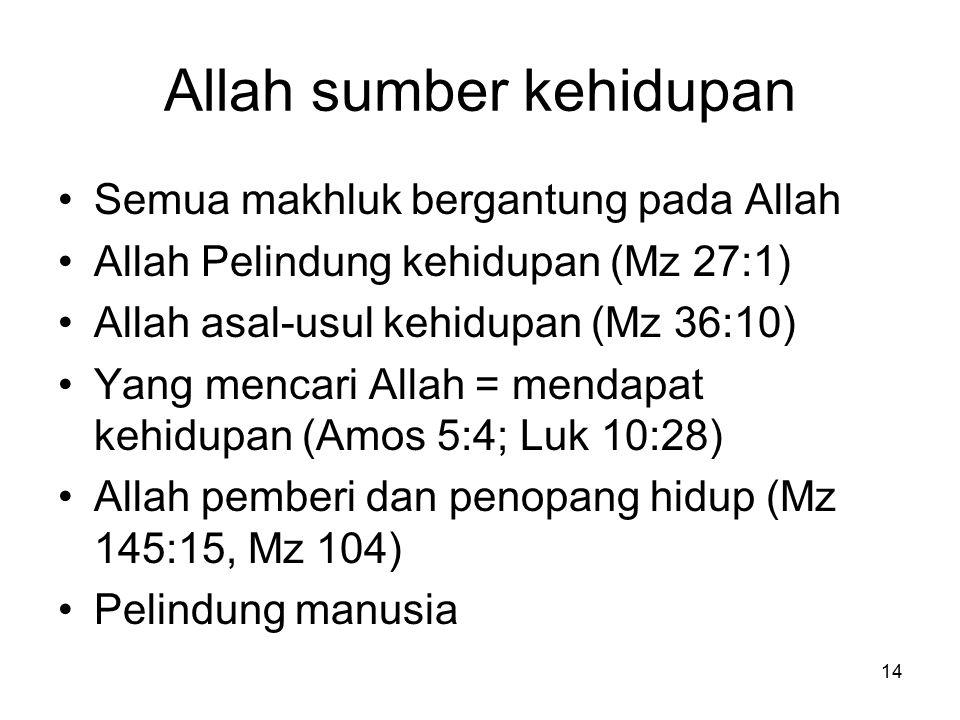 Allah sumber kehidupan