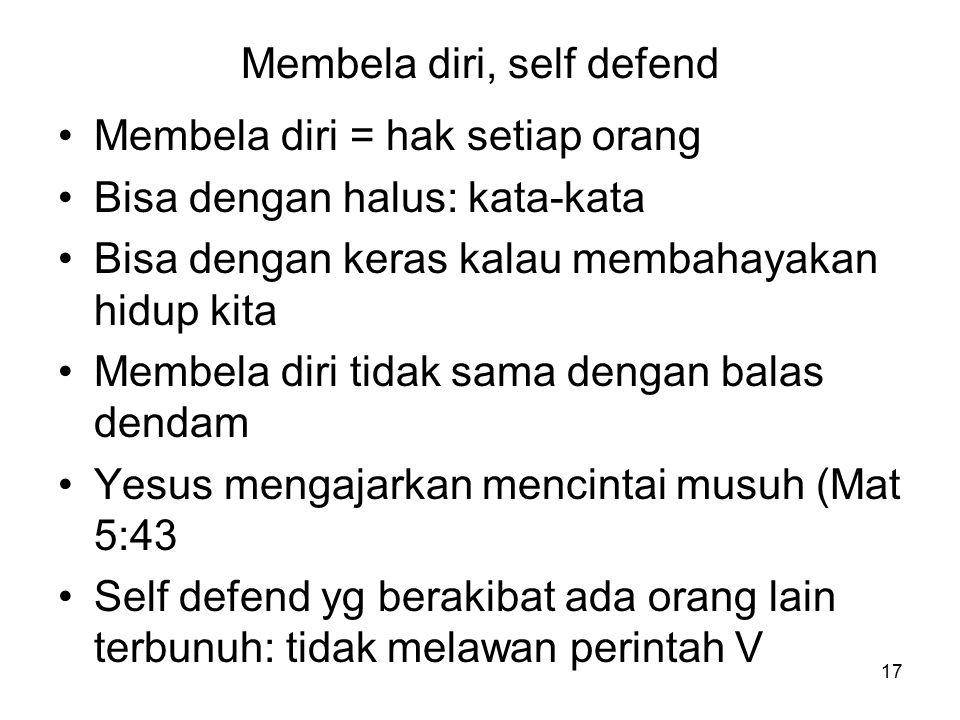 Membela diri, self defend