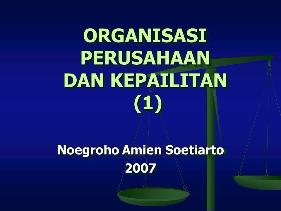 ORGANISASI PERUSAHAAN DAN KEPAILITAN (1)