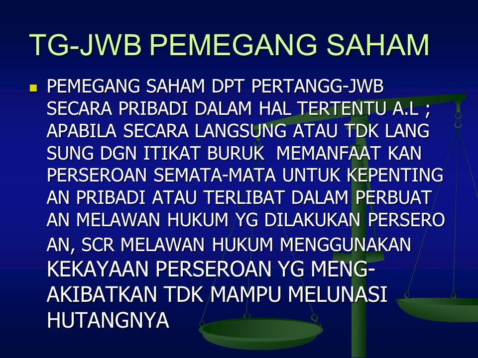 TG-JWB PEMEGANG SAHAM