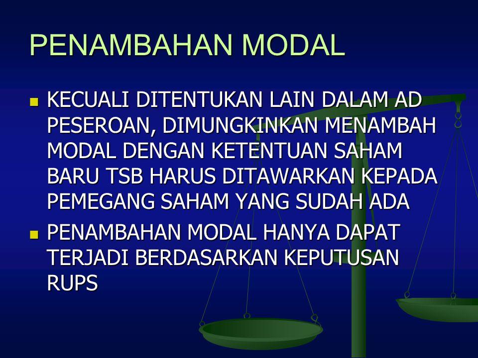 PENAMBAHAN MODAL