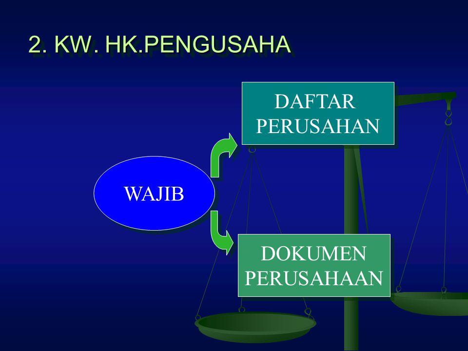 2. KW. HK.PENGUSAHA DAFTAR PERUSAHAN WAJIB DOKUMEN PERUSAHAAN
